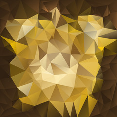 vector polygonal background pattern -  triangular gold