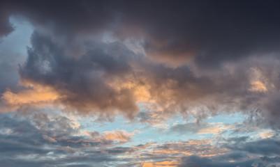 Dramatic dark sky.