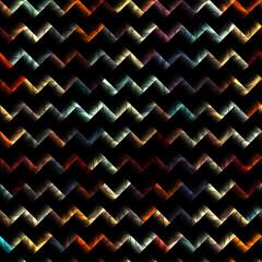 Blur chevron pattern on black background.