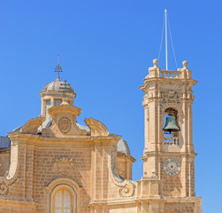 Facade of church on Gozo Island
