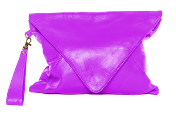 Woman bag isolated on white background magenta color