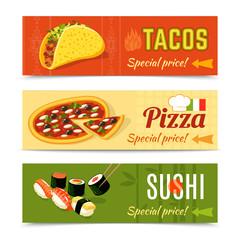 Food Banners Set
