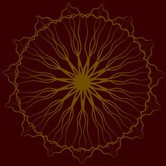 Geometrical fantasy #1 Deep Red & Yellow