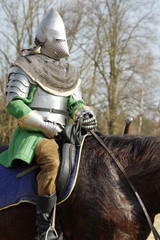 warrior on horseback medieval armor