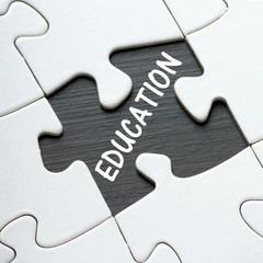 Education as the missing piece from the jigsaw puzzle