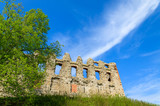 Ruins of medieval Rabsztyn castle in spring time, Poland - 80758570
