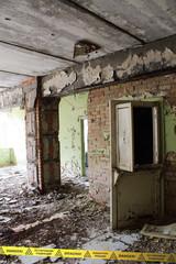 Inside of the deserted School - Chernobyl Zone - Ukraine