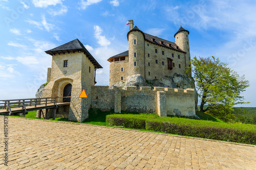 Beautiful Bobolice castle in spring time, Poland - 80758731