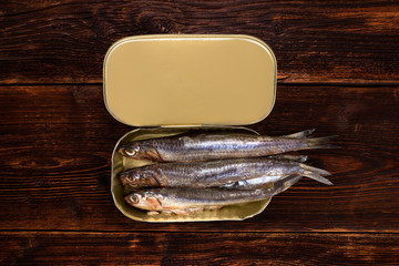 Sardines in can.