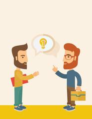 Two men sharing ideas.