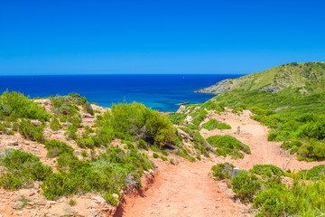 Cami de Cavalls path at Menorca, Spain.