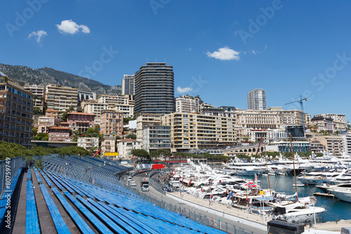 Fotobehang Formule 1 Monaco. Empty tribunes before the Monaco GP