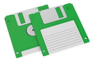 green floppy disks