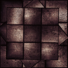 abstract background made from grunge tiles