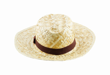 Summer concept - straw hat isolated on a white background