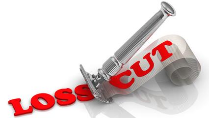 Loss cut. Concept