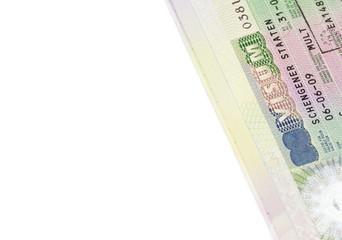 German multi schengen visa inside in the passport.