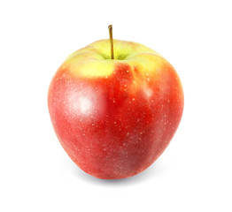 delicious red apple with yellow