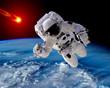 Astronaut Spaceman Asteroid Meteorite - 80762561