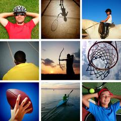 Mosaico con nueve deportes