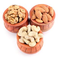 Almonds, cashews and walnuts