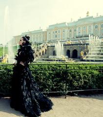 Princess in the park next  palace