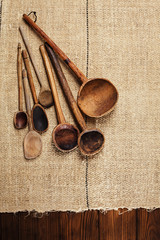 real vintage wooden spoons