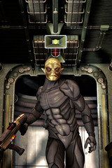 Alien trooper soldier