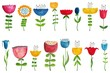 Set of colorful flowers - 80763907