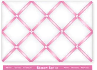 Bulletin Board, baby pink satin ribbon, DIY decor, headboard