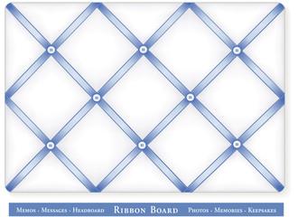 Bulletin Board, pastel blue satin ribbon, DIY decor, headboard