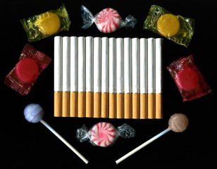 Cigarettes and Candy Concept