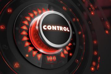 Control Regulator on Black Console.