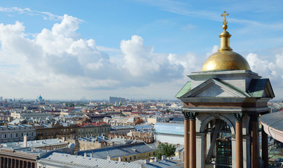 View of Saint-Petersburg from the Saint Isaac Cathedral. Russia