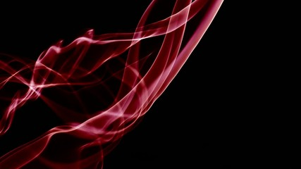 Abstract Fluid Red Smoke Turbulance Element