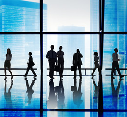 Business People Corporate Walking Office Concept
