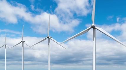回転する風車
