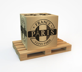 Rubber stamp with Paris