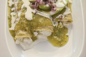 Enchiladas Verdes con queso Cottage