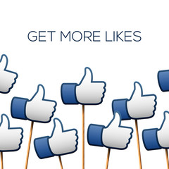 Like thumbs up symbols. Get more likes.