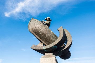 Monument to whale hunters in Tromso, Norway