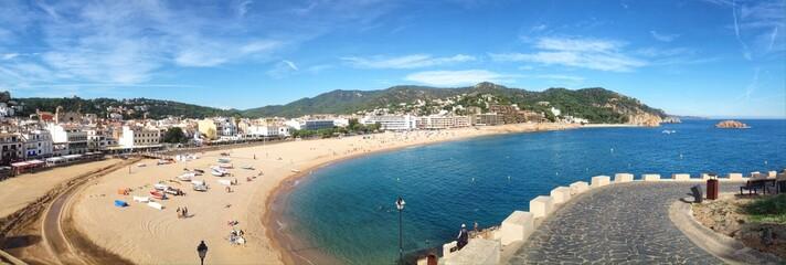 Panoramic view of Tossa de Mar in Girona, Spain