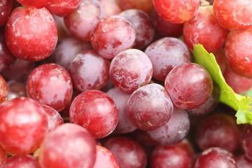 Fresh grapes at the market