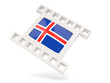 Movie icon with flag of iceland
