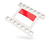 Movie icon with flag of indonesia