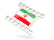 Movie icon with flag of iran