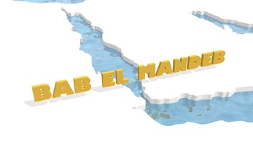 bab el mandeb strait in red sea map