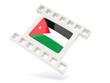 Movie icon with flag of jordan