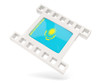 Movie icon with flag of kazakhstan
