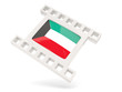 Movie icon with flag of kuwait
